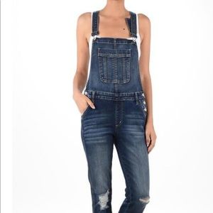NWT Kancan jean overalls size large